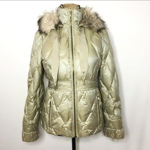 Juicy Couture Quilted Down Puffer Coat